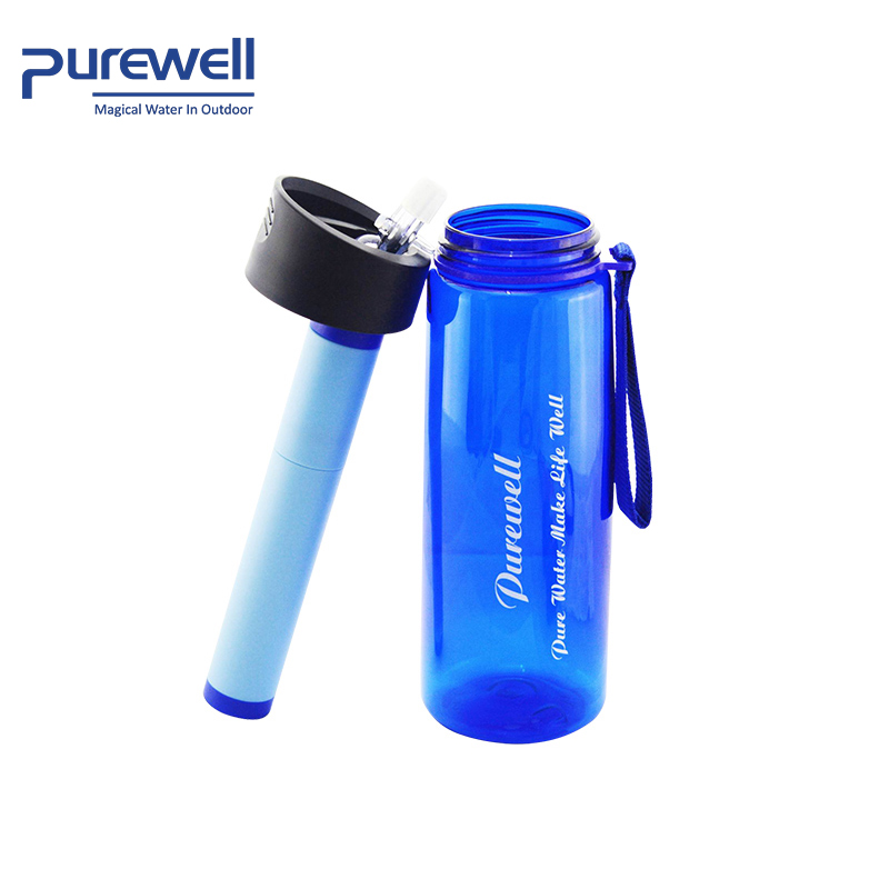 light weight outdoor sports camping portable carbon hand pump purifier water filter