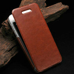 mix color flip leather case wtih credit card holder for iphone 5 5g