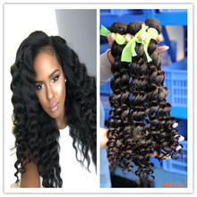 Natural color easy to dye deep wave brazilian virign human hair electrical extensions