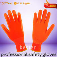 Hot new High-ranking red yellow latex coated hand gloves