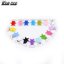 Star shape garment accessories suspender toddler mitten pacifier clips