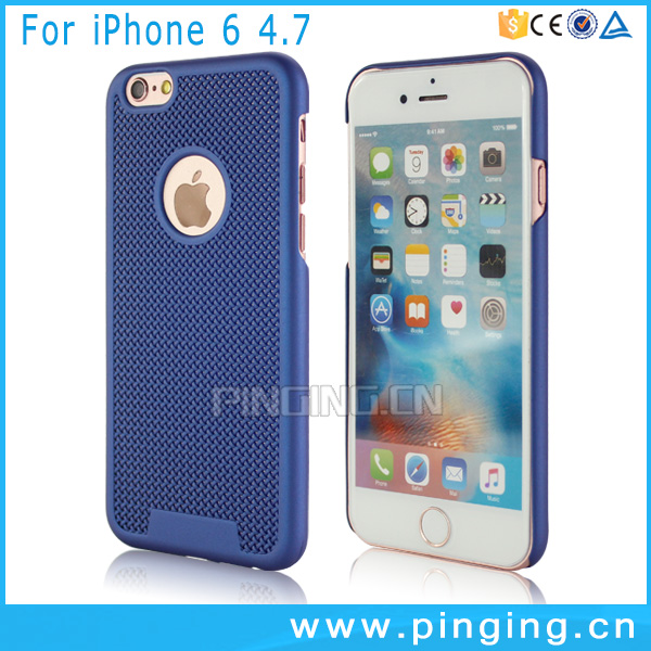 Cheapest price hollow out weave pattern hard cell phone plastic cover for iphone 6 6s case