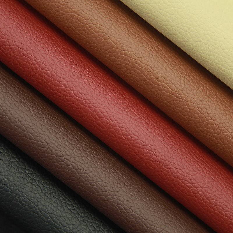 faux pvc synthetic leather with litchi <strong>grain</strong> pattern for car seat sofa furniture