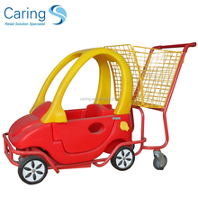 Kids Shopping Trolley Cart With funny Toy Child Car Seats