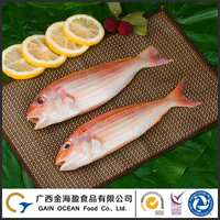 Customized Packaging Wild Caught Frozen Golden Threadfin Bream Fish