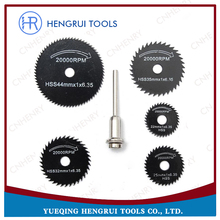 6 pcs/set Metal HSS Circular Saw Blade Cutting Discs Cutter Power Tools Set For Dremel Rotary Tools Cutting Discs