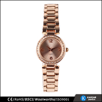 stone face rose gold women geneva quartz watch, bsci china watches
