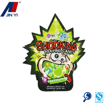 commercial candy packing custom shaped pouch bag