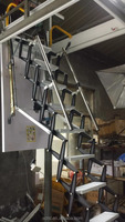 New telescopic step loft ladder with handrail/ handle for sale
