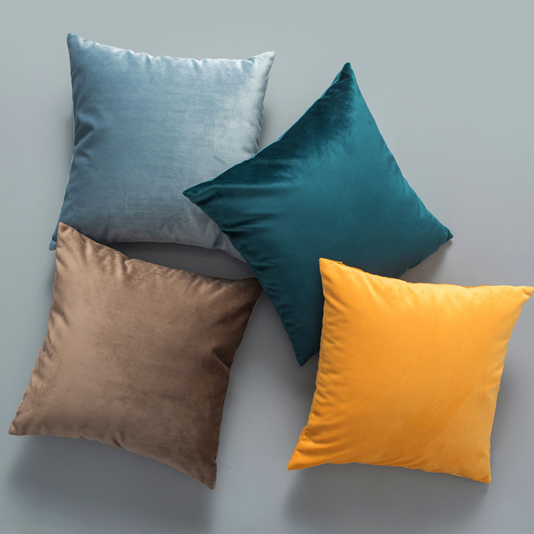 wholesale 100% polyester microfiber velvet personalized sublimation blank solid throw pillows cases