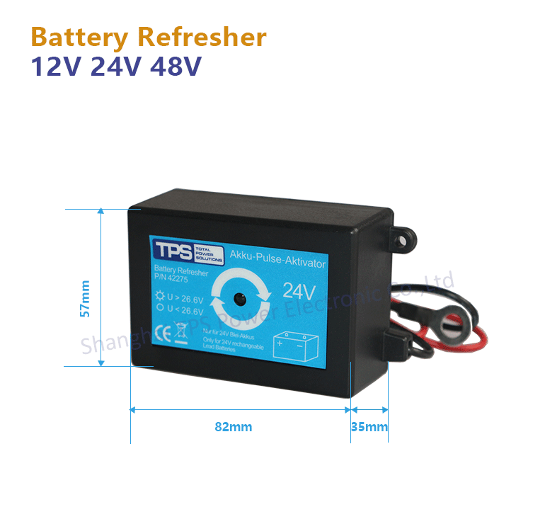 TPS 24V battery refresher for cars trucks electric wheel-chairs