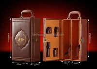 Leather high class wine case