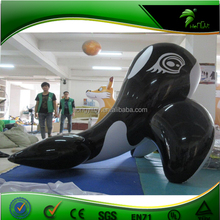Lovely Custom Size ,Colour,shape,PVC Black Giant Inflatable Whale For Advertising