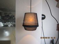 Fabric DIY pendant hanging lamp for good decoration living room