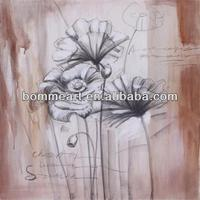 Pure Hand Draw Modern oil painting flowers designs