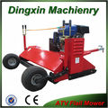 ATV flail mower with 15*600-6 tires