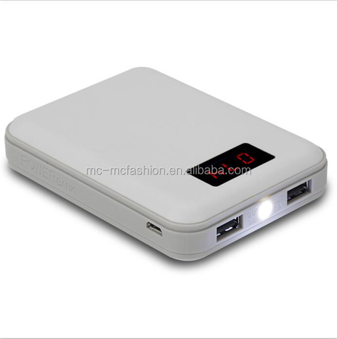 2016 OEM Cheap 8000mAh Dual Usb Mobile Power Bank, LED Torch Light Power Bank With Digital Display