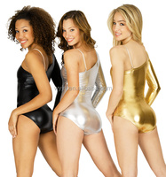 2016 Hot !!-shinny spandex leotard women dance wear