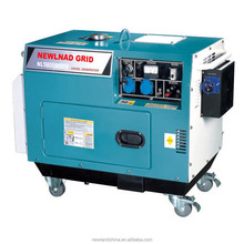 4.5KW electric start sound proof diesel generator with welding and ATS function