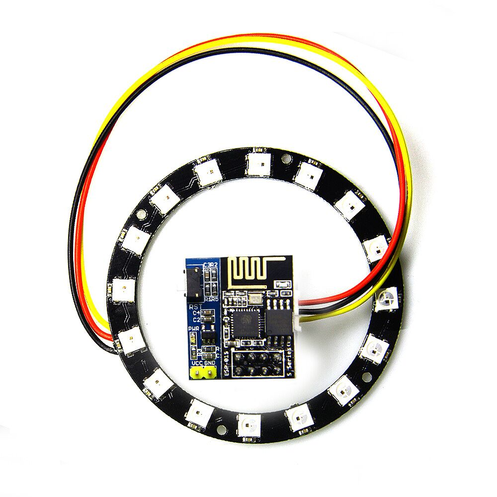 Christmas DIY WS2812 Light Ring Electronic Maker Student Education ESP8266 ESP01S <strong>01</strong> RGB LED Smart Wifi Kit