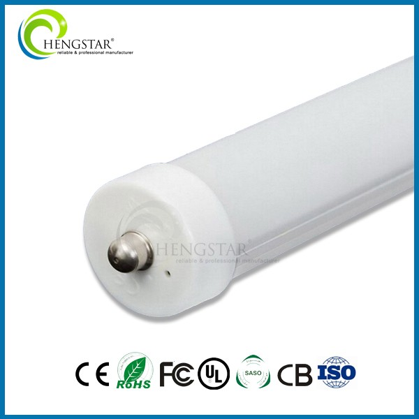 2400mm 40w led tube plastic end caps for steel tube