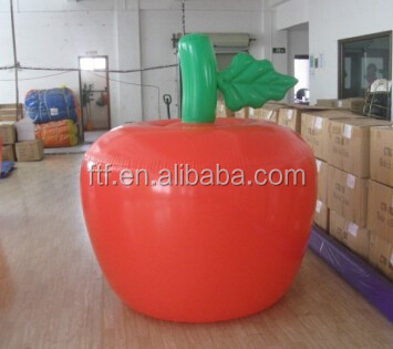 2014 hot sale inflatable Fruit model/inflatable fruit apple for advertising promotion