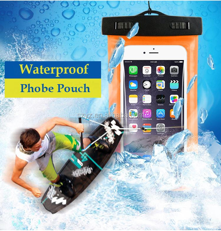 Waterproof Mobile Phone Bags with Strap Dry Pouch Cases Cover for Samsung galaxy S7