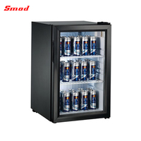 68L Mini Glass Door Wine Cooler Showcase Without Logo And Sticker