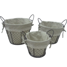 Rectangle hanging metal mesh wire basket with moved handle