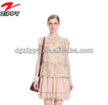 Ready made chrimas fancy layered lace dress