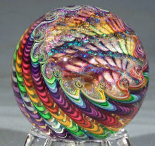 Demanda de mano Art Glass James Alloway Esfera + Pisapapeles + Bola de Cristal