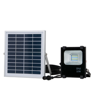 10w high power bridgelux dimmable slim solar LED flood light