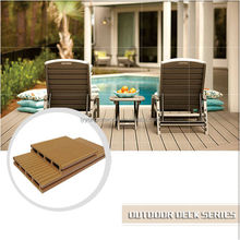Top quality recycled wood grooved hollow material composited wpc decking ,solid waterproof wpc decking, cheaper wpc tile