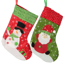 Wholesale Christmas Party Decoration 26cm Hanging Socks Santa Claus Snowman Socks Stockings Christmas Decoration Supplies