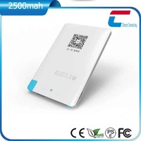 6mm Ultra-Slim Portable Pocket Charger/Credit Card powerbank for Mobile Phone