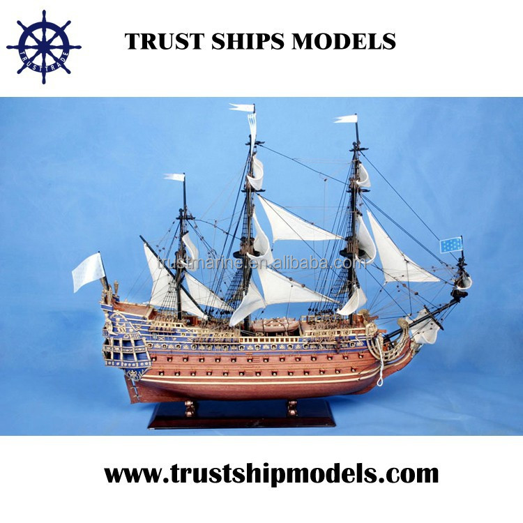 High quality wooden sailboat model for sale