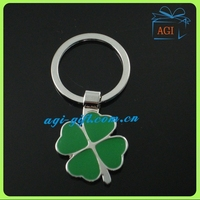 Four Leaf Clover shape metal keychain