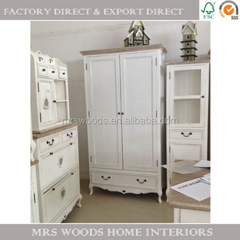 Mw home french shabby chic country furniture closet pine - Dormitorios shabby chic ...