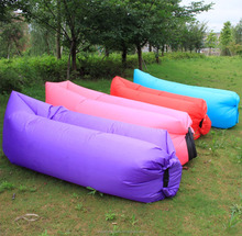Inflatable outdoor sleeping bag beach foldable lazy sofa from china supplier
