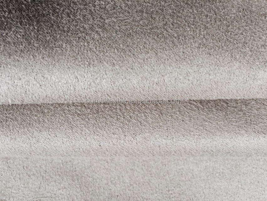micro suede fabric with T/C backing for sofa