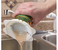Plastic kitchen Snap-On Can Strainer Can strainer, Canned drainer,colander