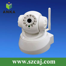 All-in-one 10 IR LED WPA Wireless Internet PTZ Dual Audio IP Camera