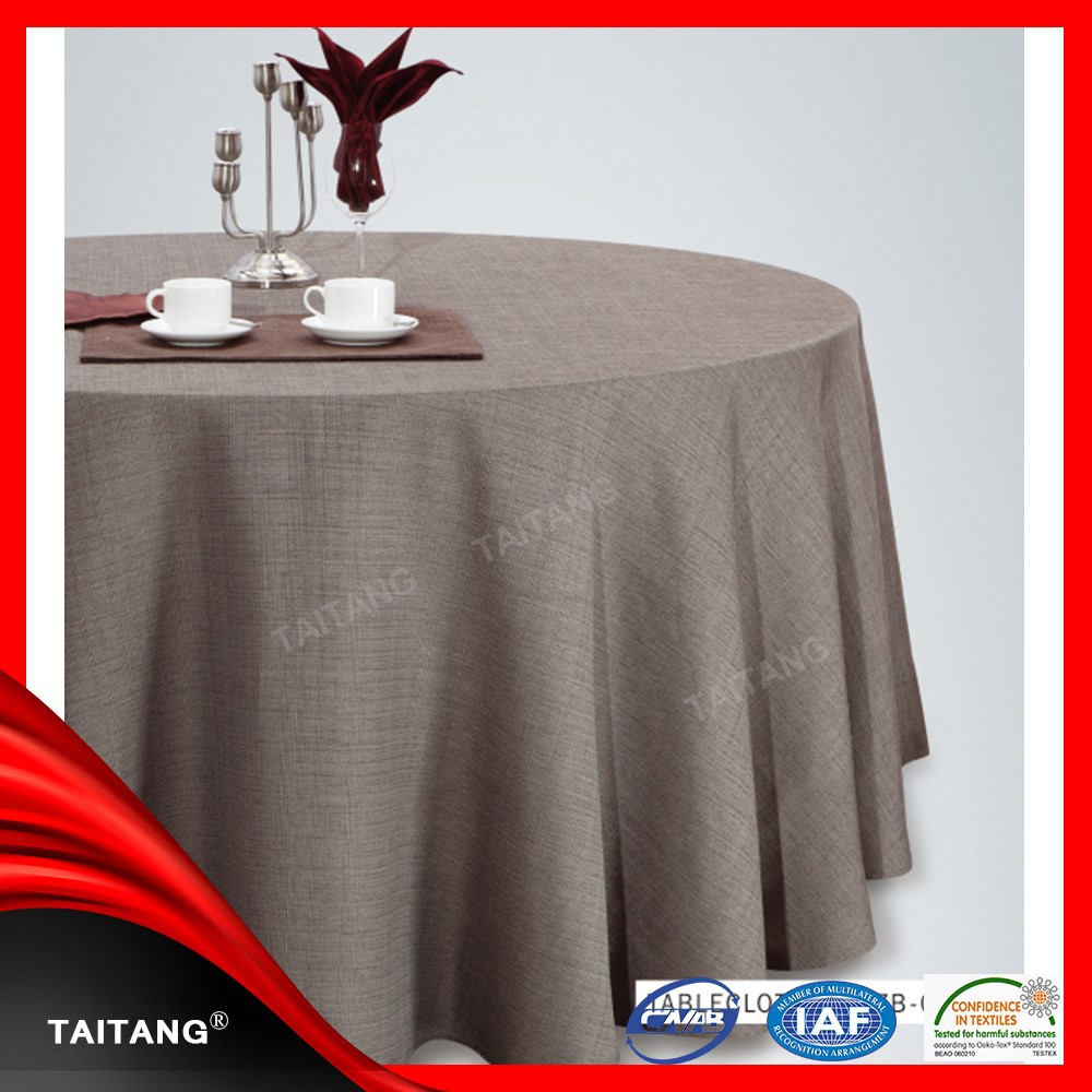 cheap wedding polyester linen hand embroidered tablecloth