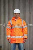 OEM supply new style high visibility winter jacket industrial safety