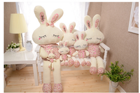 wholesale textile cloth floral rabbit novelty funny doll supper soft plush bunny dolls funny cute romantic kids party gift
