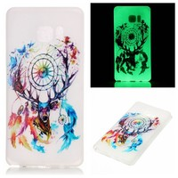 Luminous soft TPU cell phone case for Samsung Note 7 transparent mobile back cover accessories