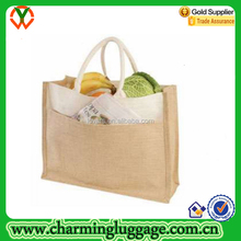 Best Selling Jute Shopping Bag Wholesale with Tote
