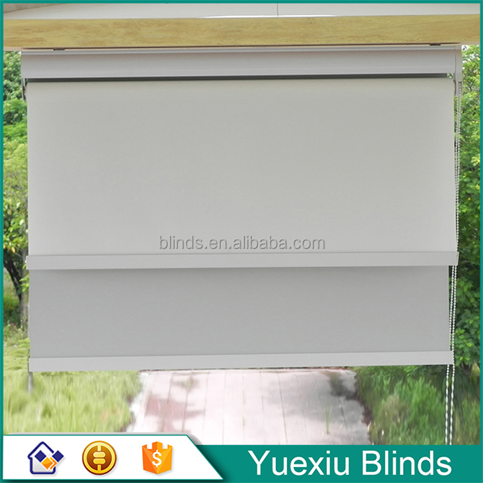 Plastic chain/metal chain Home And Office Decorative Day And Night Roller Blinds