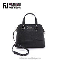long shoulder bag black color women leather bag fashion handbag for lady