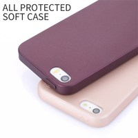 Manufacturer Wholesale X-Level Fashion Design Black Soft Thin TPU All Protected Mobile Cell Phone Case for Iphone 5 SE